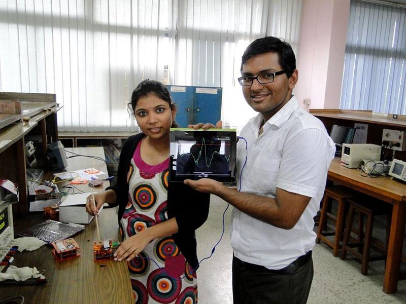 Researchers in the lab in Delhi