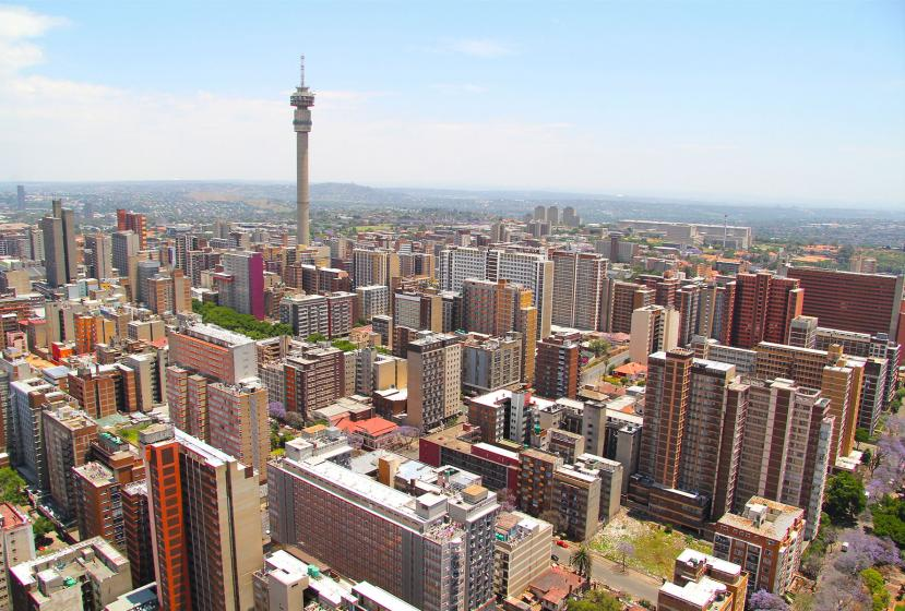 Aerial view of Johannesburg, South Africa