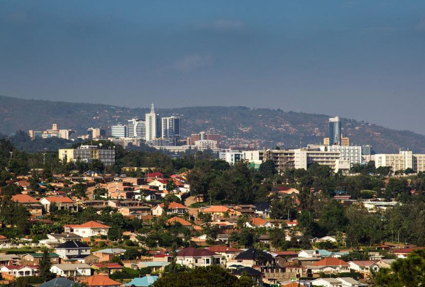 Aerial view of Kigali, Rwanda