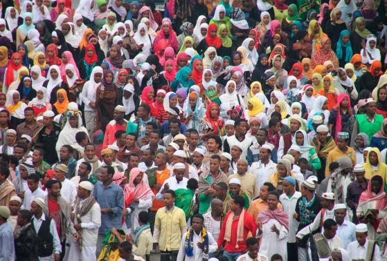Ethiopians gather in Addis Ababa