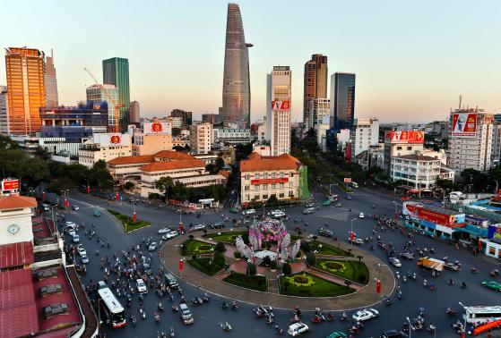 Aerial view of Ho Chi Minh City, Vietnam