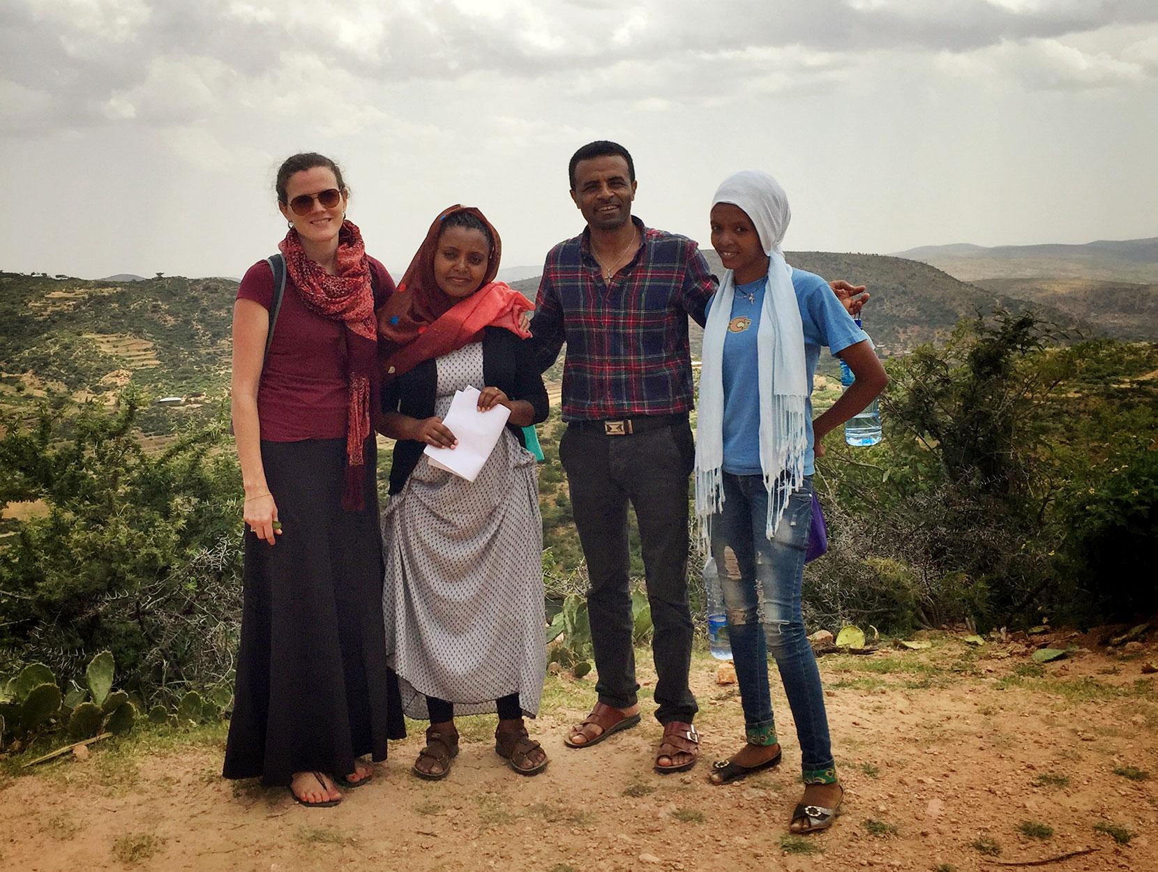 Sarah Hurlburt and the data collection team in Ethiopia